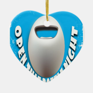 25th February - Open That Bottle Night Ceramic Heart Ornament