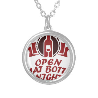 25th February - Open That Bottle Night Silver Plated Necklace