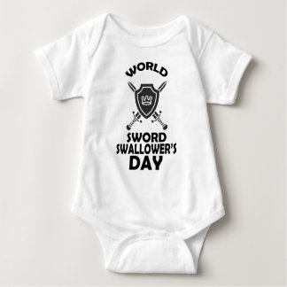 25th February - World Sword Swallower's Day Baby Bodysuit