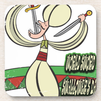 25th February - World Sword Swallower's Day Coaster