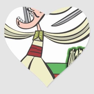 25th February - World Sword Swallower's Day Heart Sticker