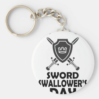 25th February - World Sword Swallower's Day Keychain