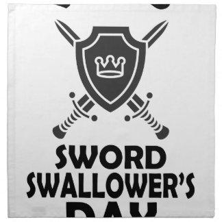 25th February - World Sword Swallower's Day Napkin