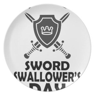 25th February - World Sword Swallower's Day Party Plate