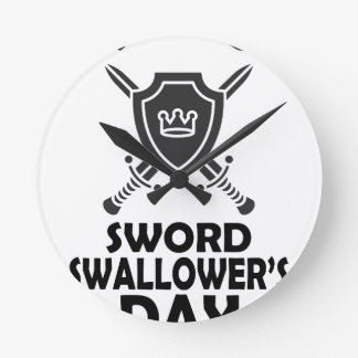 25th February - World Sword Swallower's Day Round Clock