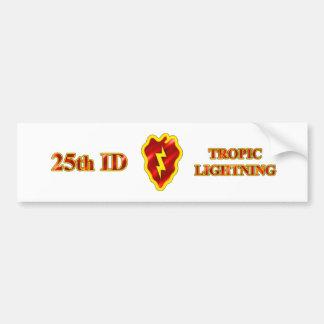 25th ID Tropic Lightning Bumper Sticker