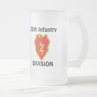 25th Inf Div fr m/1 Frosted Glass Beer Mug