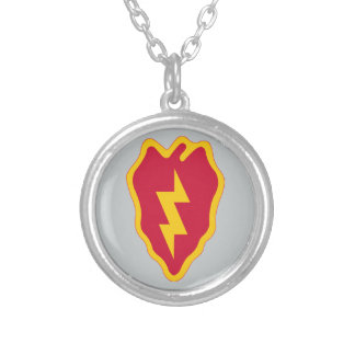 25th Infantry Division Silver Plated Necklace