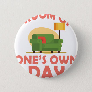 25th January - A Room Of One's Own Day 2 Inch Round Button