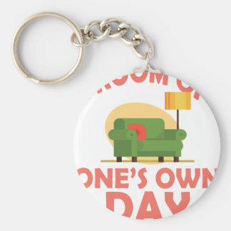 25th January - A Room Of One's Own Day Keychain