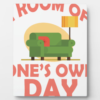 25th January - A Room Of One's Own Day Plaque