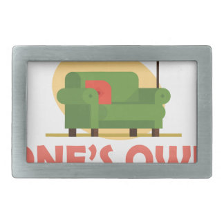 25th January - A Room Of One's Own Day Rectangular Belt Buckles
