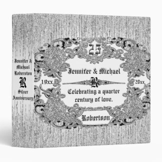 25th Silver Anniversary Monogram Vinyl Binder