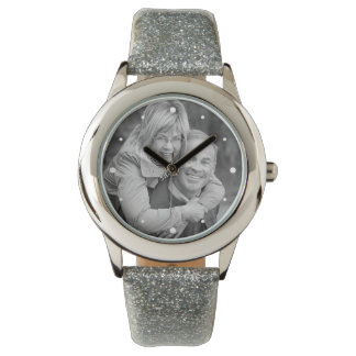 25th Silver Anniversary Photo Keepsake Wrist Watches