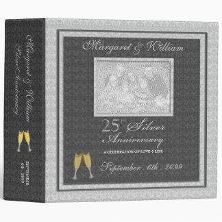 25th Silver Anniversary Scrapbook Binder