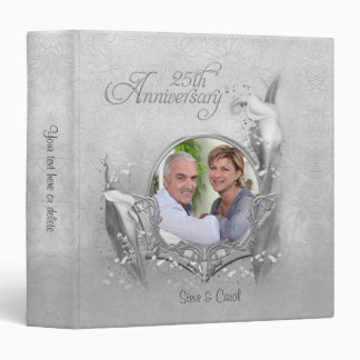 25th Silver Calla Photo Anniversary - Customize 3 Ring Binders