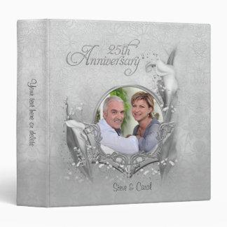 25th Silver Calla Photo Anniversary - Customize 3 Ring Binders