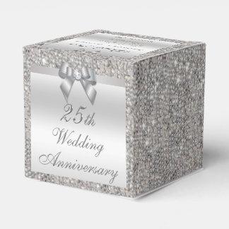 25th Silver Wedding Anniversary Custom Thank You Wedding Favor Box
