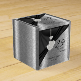 25th Silver Wedding Anniversary Favor Box