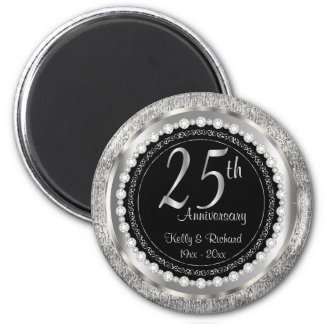 25th Silver Wedding Anniversary Magnet