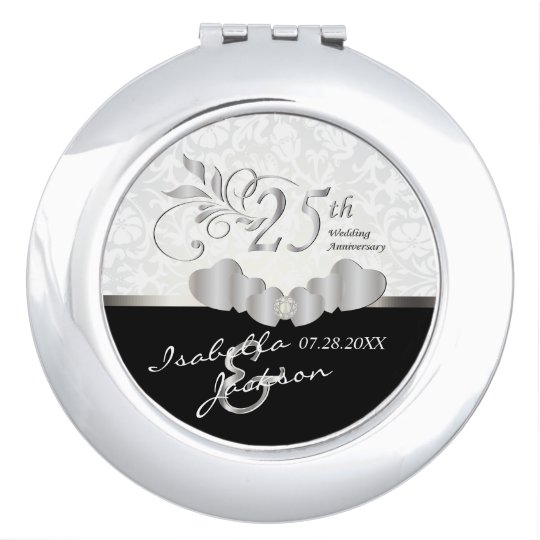 25th Silver Wedding Anniversary Mirrors For Makeup