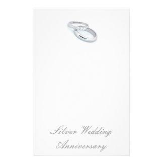 25TH Silver Wedding Anniversary Stationery Design