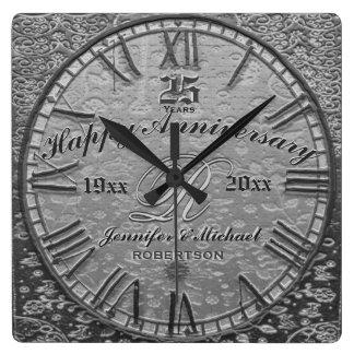 25th Silver Wedding Anniversary Vintage Antique Wallclocks