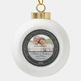 25th Silver Wedding Annivsersary | Photo Ornament