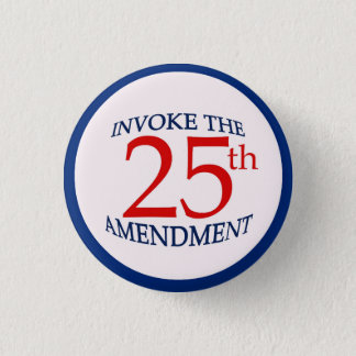25th Twenty-Fifth Amendment Political Pin Button