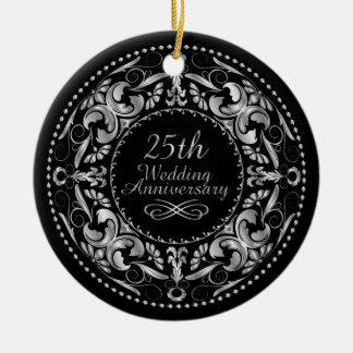 25th Wedding Anniversary 1 - Ornament