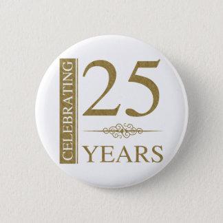 25th Wedding Anniversary 2 Inch Round Button