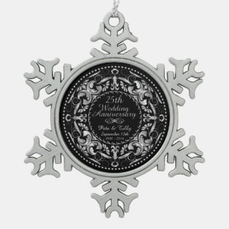 25th Wedding Anniversary 2 - Pewter Ornament
