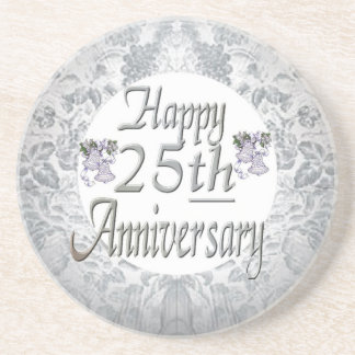 25th Wedding Anniversary Beverage Coasters