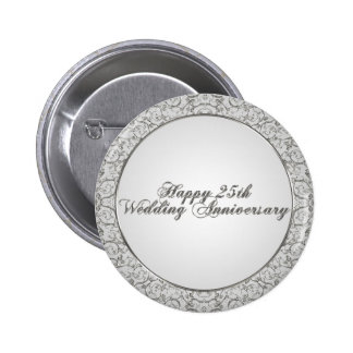 25th Wedding Anniversary Button