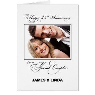 25th Wedding Anniversary Custom Name & Photo Card
