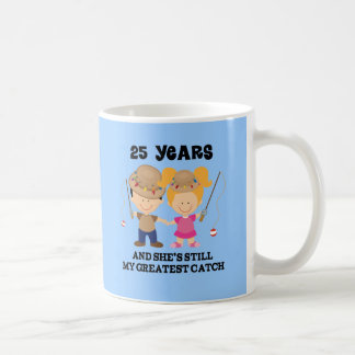 25th Wedding Anniversary Gift For Him Coffee Mug
