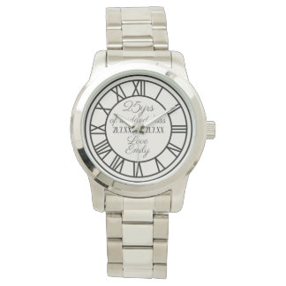 25th Wedding Anniversary Husband Roman Numerals Watch