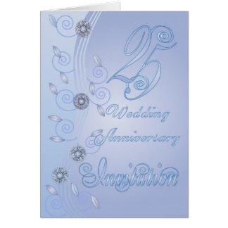 25th Wedding Anniversary Invitation Card