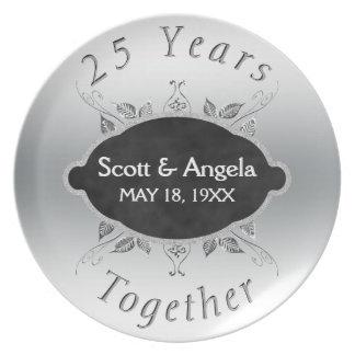 25th Wedding Anniversary Keepsake | 25 Years Plate