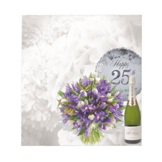 25th Wedding Anniversary Notepad