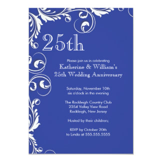 25th Wedding Anniversary Party Invitations