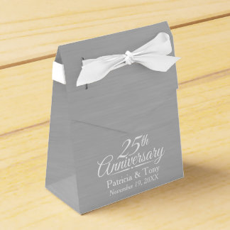 25th Wedding Anniversary Personalized Favor Box