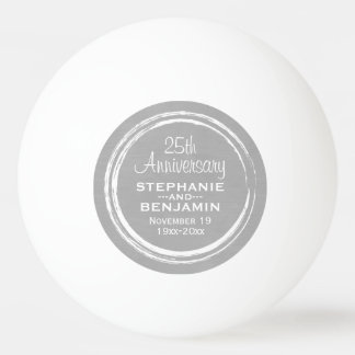 25th Wedding Anniversary Personalized Ping Pong Ball