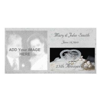 25th Wedding Anniversary Photo Card