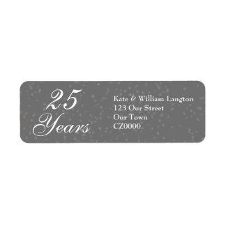 25th Wedding Anniversary Silver Stardust Confetti