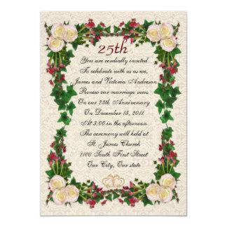 "25th Wedding anniversary vow renewal 5"" X 7"" Invitation Card"