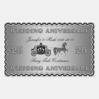 25th Wedding Anniversary-Wedding Horse & Carriage Sticker