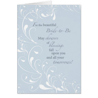 2600 Bridal Shower Swirls Congratulations Card