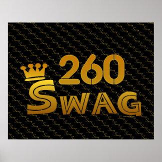 260 Area Code Swag Print