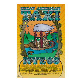 261 Great American Taxi NYE Poster